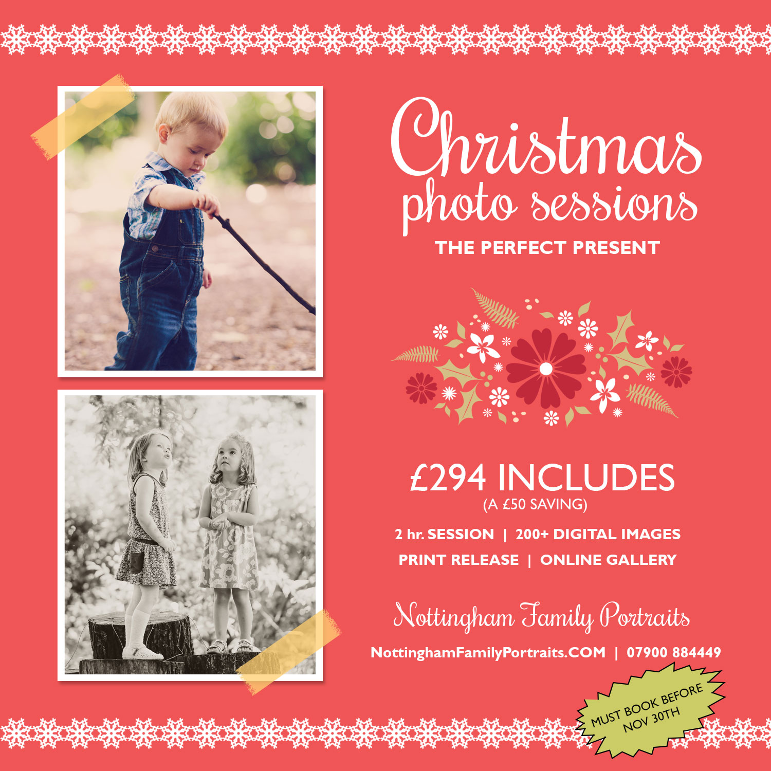 Our Christmas Portrait Offer